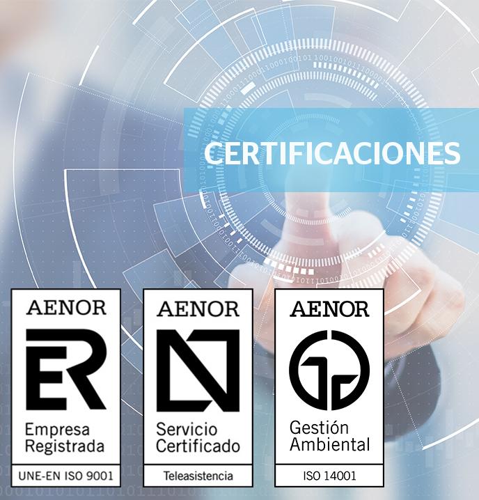 Servicio certificado por AENOR